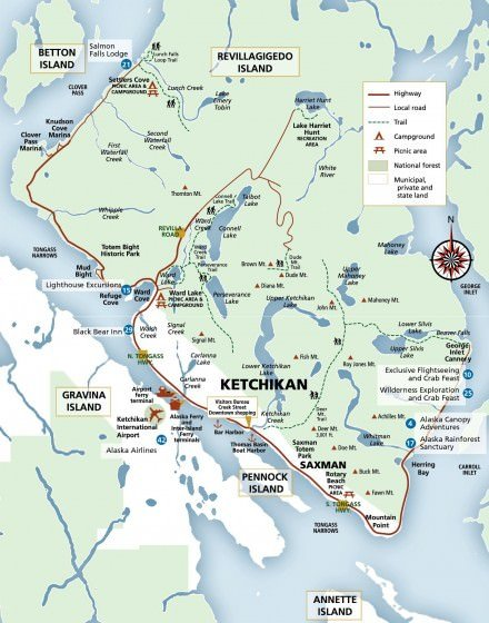 alaska marine highway map with Ketchikan Map Visitors B on Map Of Alaska Marine Highway Routes moreover City Maps in addition Diesel besides Maps Of Alaska Lakes furthermore Ketchikan map visitors b.