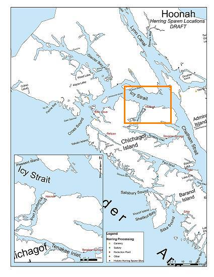 Map of Hoonah Alaska